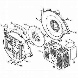 Stihl Br 420 Backpack Blower  Br 420  Parts Diagram  Fan