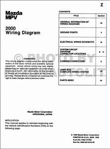 2000 Mazda Mpv Wiring Diagram Manual Original