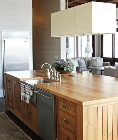 ilot bois cuisine ilot cuisine bois meuble industriel lot centrale de