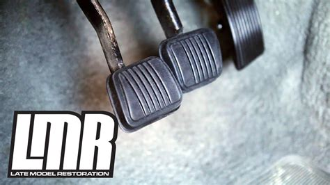 mustang clutch brake pedal pad install resto