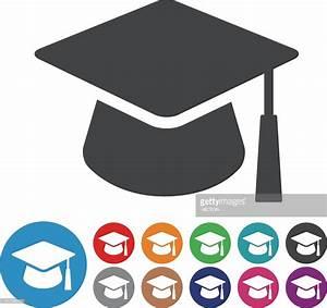 Graduation Cap Icons Graphic Icon Series Vector Art