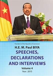 Paul Biya - President of Cameroon - Speeches 2015