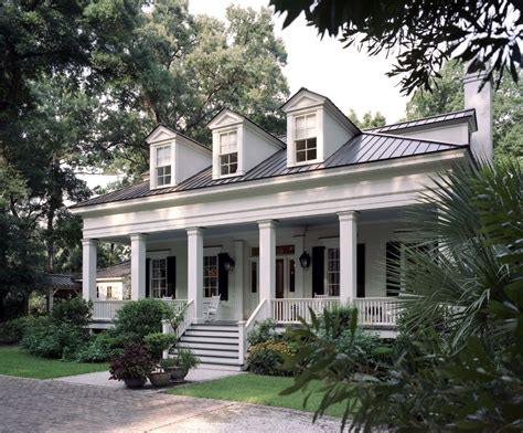 white house with metal roof exterior traditional with