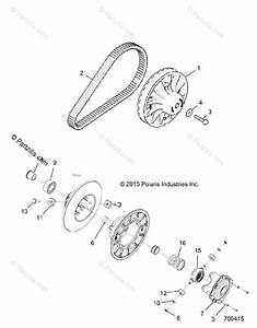 Polaris Side By Side 2016 Oem Parts Diagram For Drive Train  Secondary Clutch