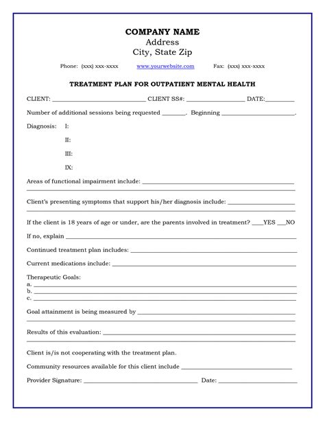dental treatment plan template template dental treatment plan template