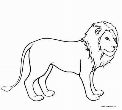 Lion Coloring Printable Lions Leeuw Kleurplaat Easy
