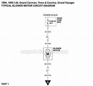 Blower Motor Circuit Wiring Diagram  1994