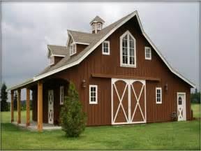Horse Barn Style House Plans