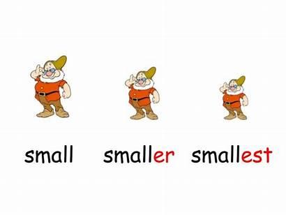 Comparatives Superlatives Ingles Excersises Smaller Smallest Bigger