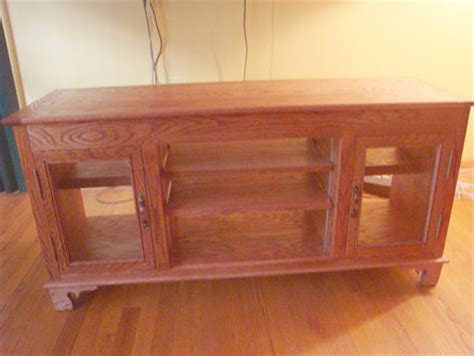 woodworking plans tv stand   build  easy diy