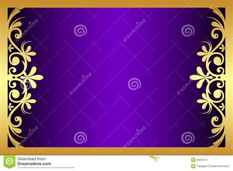 floral purple  gold frame royalty  stock