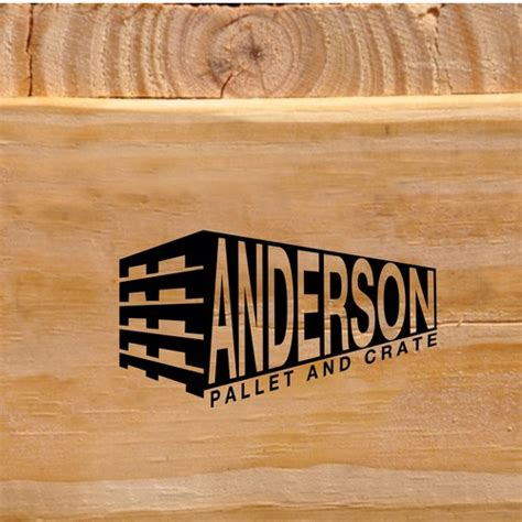 wood pallet  wood shipping crate logo needed logo