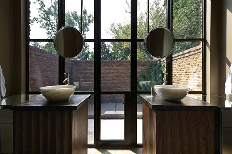 Hanging Mirror In Bathroom by Hanging Bathroom Mirror Contemporary Bathroom