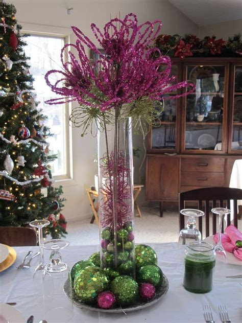 purple and green christmas decorations fall winter