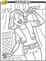 Coloring Singer Rock Lead Band Crayola Colour Designlooter Roll Musical sketch template
