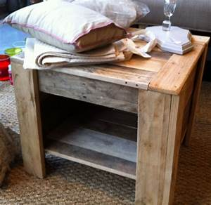 Table En Bois De Palette : table de chevet en palette tete de lit table nightstand et entryway tables ~ Melissatoandfro.com Idées de Décoration