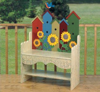 Birdhouse Bench Woodworking Plan You Are Sure Get Lots
