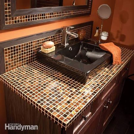 home dzine bathrooms   apply mosaic tile  vanity