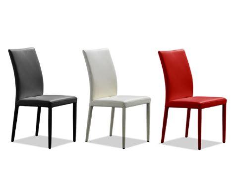 chaise de cuisine en cuir blanc lot de 2 chaises en cuir de vachette atalante 3 coloris