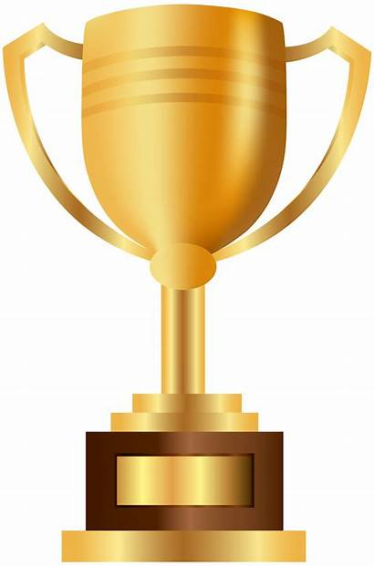 Trophy Prize Transparent Clipart Clip Drawing Gold