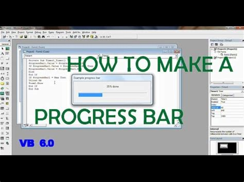 How To Make A Bar by How To Make A Progress Bar In Visual Basic 6 0