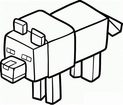 Minecraft Coloring Pages Pig
