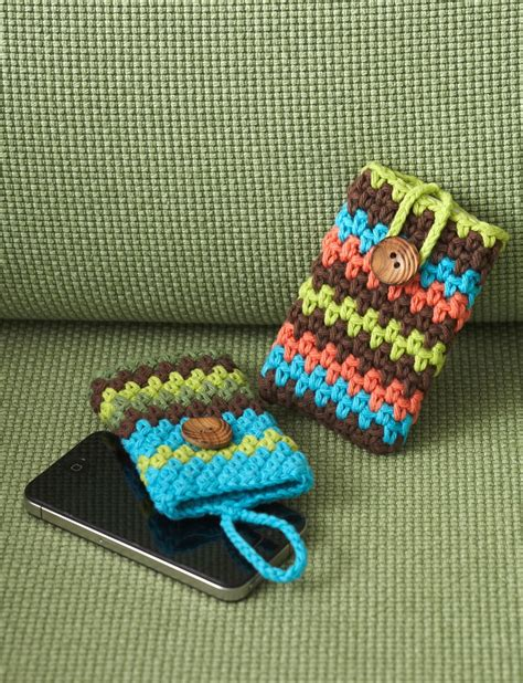 free mobile cover lily mobile phone covers crochet pattern yarnspirations