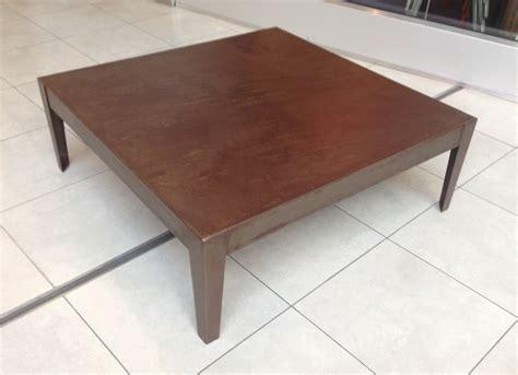 table basse carr 233 moderne en m 233 tal patin 233