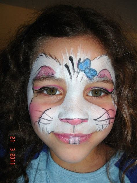 full face bunny face easter face paint face
