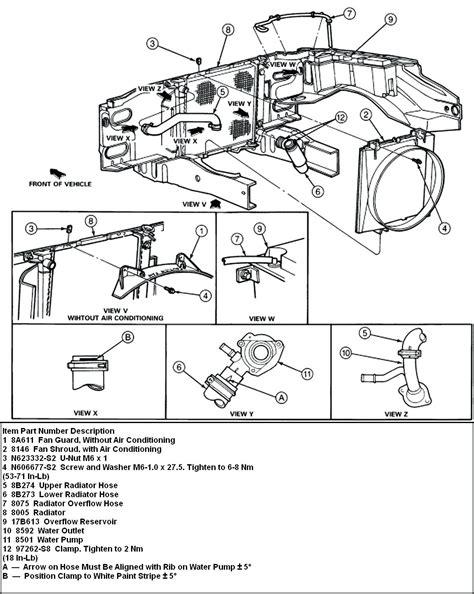 diagram 2000 ford explorer parts diagram