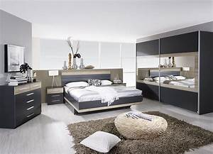 chambre adulte complete contemporaine grise chene clair With chambre adulte complete conforama