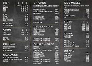 19 best menu and price list designs images on pinterest With fish and chip shop menu template