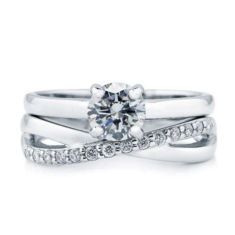 cut cubic zirconia cz 925 sterling silver solitaire