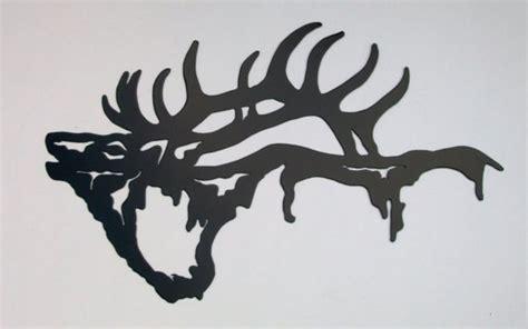 elk silhouette wall hanging  metalmenagerie  etsy