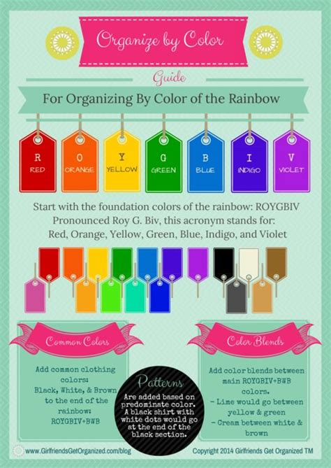 Organize Your Clothes By Color Of The Rainbow Free