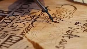 Muster In Holz Brennen Basteln Mit Holz Brandmalerei