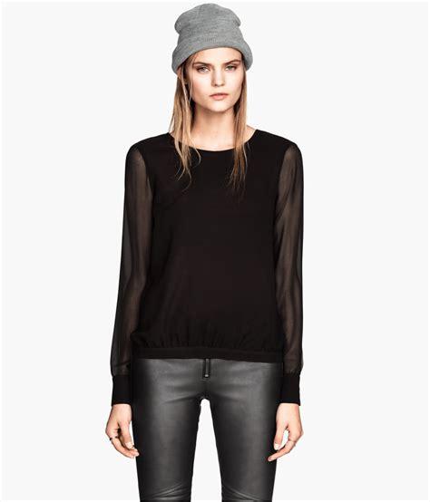 h m blouses h m black chiffon blouse black blouse