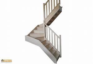 Escalier 3 4 Tournant : escalier double quart tournant en h tre levigne ~ Dailycaller-alerts.com Idées de Décoration