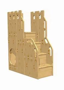 Holz Für Hochbett : treppe zu hochbett etagenbett sicherheits treppe holz massiv f r 150 cm h he silenta ~ Markanthonyermac.com Haus und Dekorationen