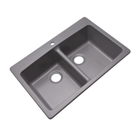 home depot kitchen sinks mont blanc waterbrook dual mount composite granite 33 in 4264
