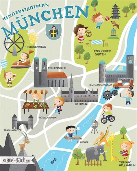 englischer garten munich map illustrierter stadtplan archive www katelein