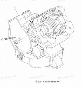 Polaris Atv 2008 Oem Parts Diagram For Engine  Short Block