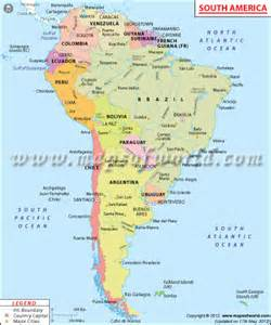 Map of South America Countries