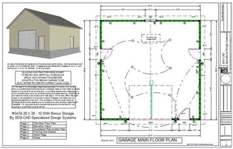 apartment garage plans sds plans