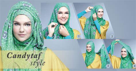 tutorial  memakai hijab modern pashmina