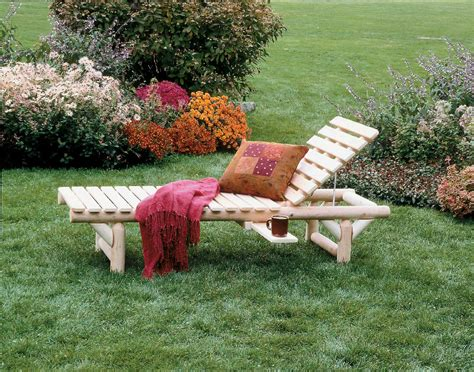 cedar log lounge chair in outdoor lounges