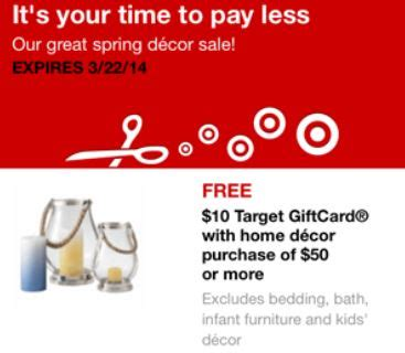Spend $50 On Home Decor Get A Free $10 Gift Card