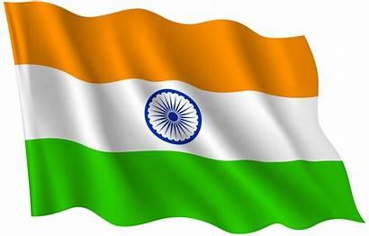 Flag Indian India Transparent Waving Independence Clip