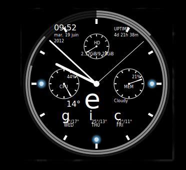 installer horloge sur bureau comment installer un conky en forme d horloge de