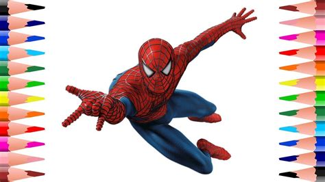 paint spiderman coloring pages  kids coloring